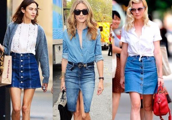 джинсовые юбки лета 2018