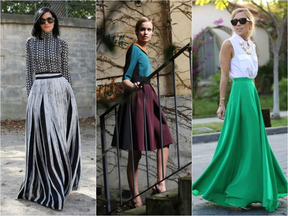 модный тренд, шелковая юбка