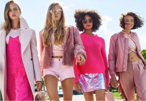 модный цвет, розовый