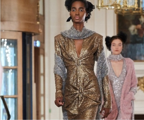 тренд, золотые платья