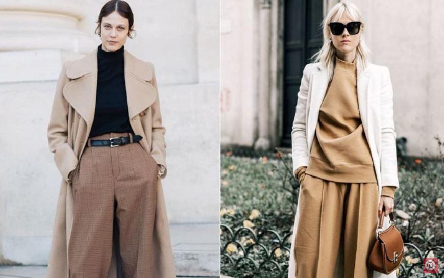 широкие брюки, модные идеи