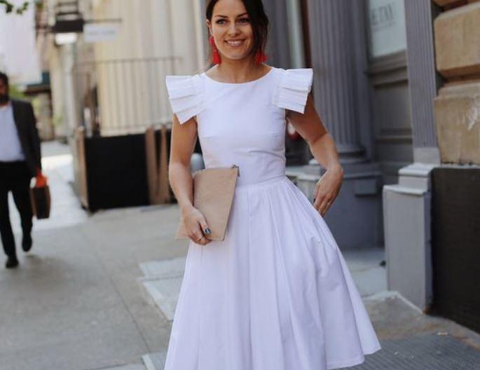 платья 2019, белое платье