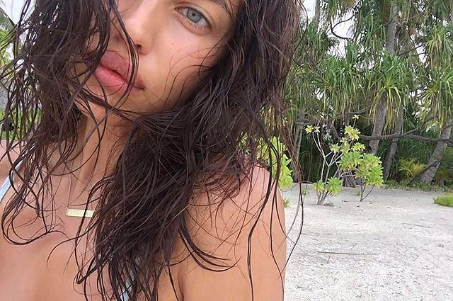 Ирина Шейк, без макияжа