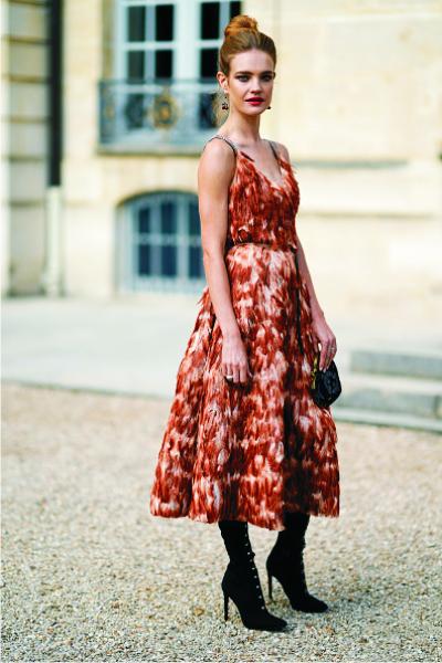 Наталья Водянова, платье