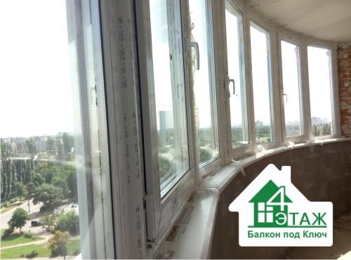 """Остекление балконов Rehau любой сложности - компания """"4 этаж Балкон под ключ"""""""