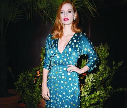 Джессика Честейн, платье