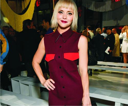 Кристина Риччи, платье, модный показ