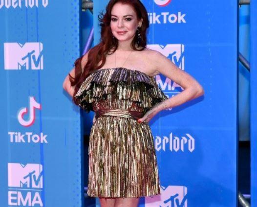 Линдси Лохан, платье
